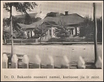 Dr. Dom. Bukanto namai apie 1935m.