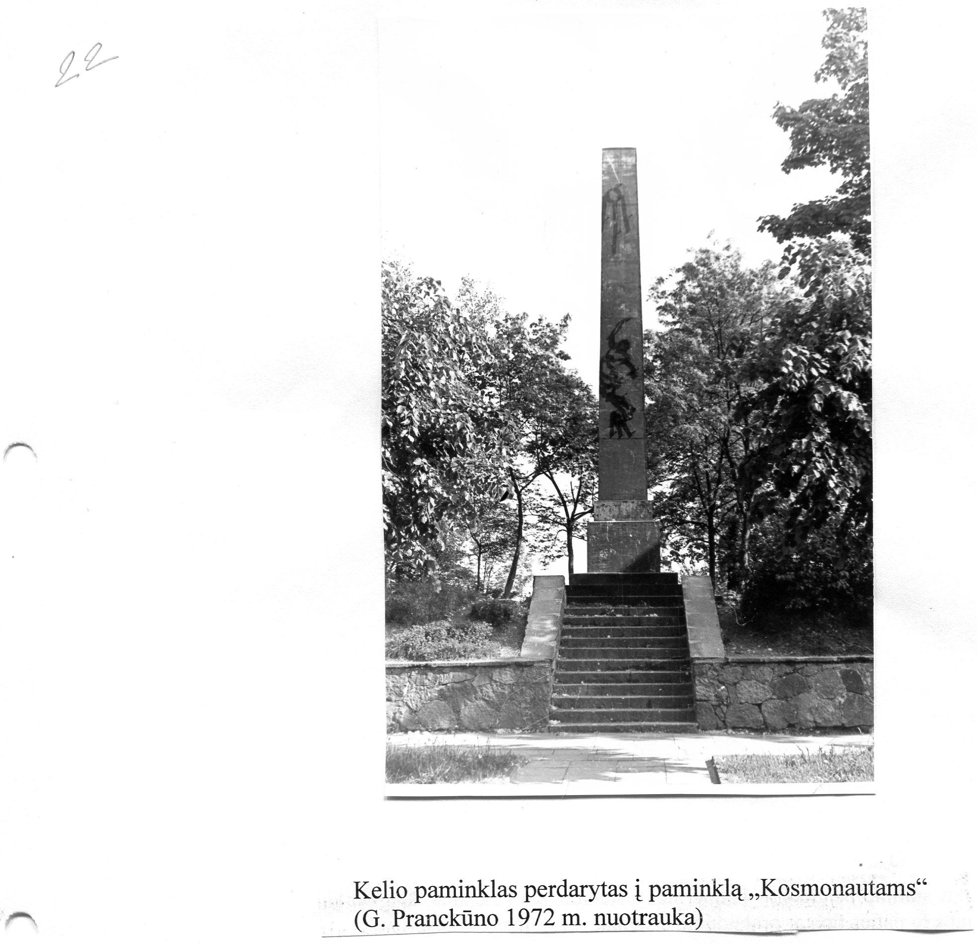 G.Pranck. Obeliskas ,,Kosmonautams. Foto 1972