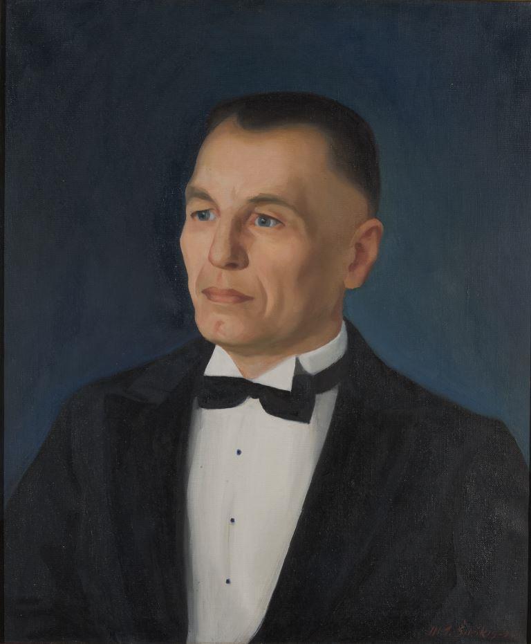 """ZKM-10516; D-72 M. Šileikis """"Dr. Žymantas"""". Drobė, aliejus. 1938 m. Išm: 66,1×50,8 cm"""